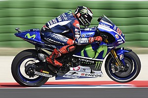 MotoGP Qualifying report Yamaha delights with double front row in Misano