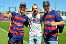 World RX drivers meet stars of FC Barcelona