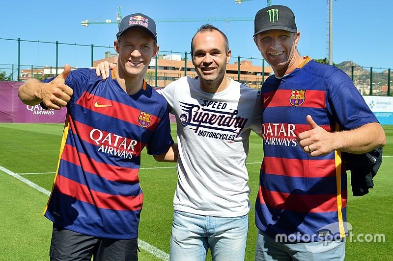 World RX drivers meet stars of FC Barcelona