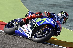 MotoGP Qualifying report Yamaha qualifies on first and second row in Aragón time attack