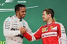Vettel ontkent: Ferrarimotor niet zo goed als de Mercedes