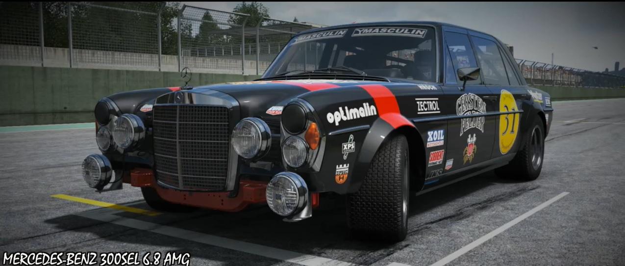 Project CARS: Mercedes 300SEL 6.8 AMG a játékban