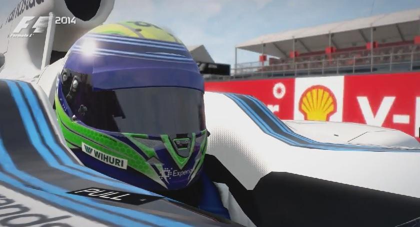 F1 2014: Pályabejárás Felipe Massával a játékban