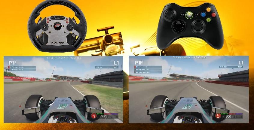 F1 2014: Kormány. Vs. Kontroller