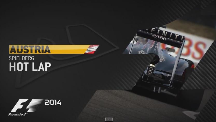 F1 2014: Új hivatalos videó a játékról! Ricciardo a Red Bull Ringen