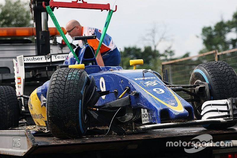 Formel 1 in Ungarn: Marcus Ericsson startet aus der Boxengasse