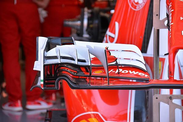 Formule 1 Analyse Technique - Aileron avant revu sur la Ferrari SF16-H