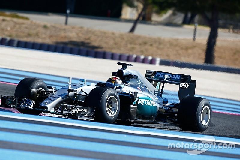 梅赛德斯首个2017轮胎测试日收工