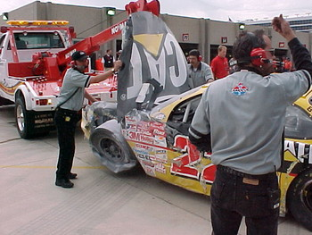 Another view of Ward Burton's CAT car