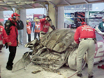 More #21 after crash