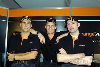 Enrique Bernoldi, Johnny Herbert and Jos Verstappen