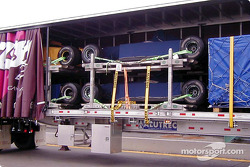 Formula 1 in semi trailers