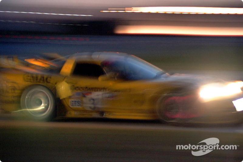 Corvette at night