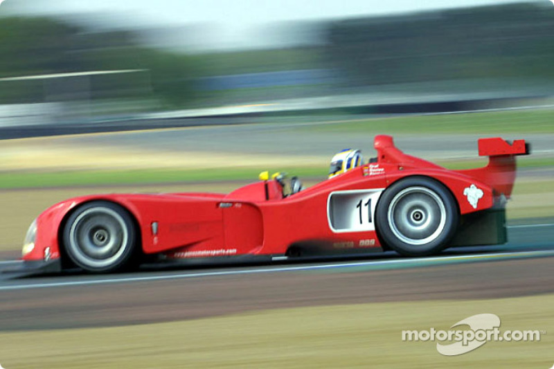 Klaus Graf in the Panoz