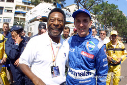 Luciano Burti and his number one fan: the great Pele