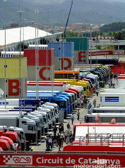 The Catalunya paddock
