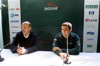 Bobby Rahal and Pedro de la Rosa at the press conference