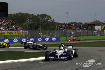 Ralf Schumacher, David Coulthard, Jarno Trulli, Mika Hakkinen and Rubens Barrichello