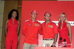 Marlboro Press Conference: Rubens Barrichello and Michael Schumacher