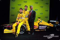Jarno Trulli, Heinz-Harald Frentzen and Eddie Jordan