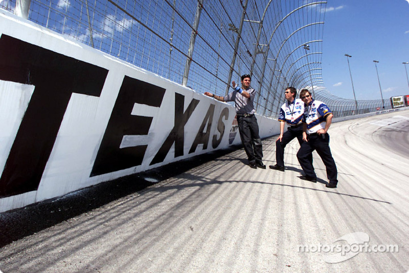 Patrick Carpentier visiting the Texas Motor Speedway