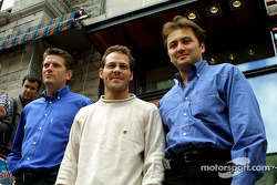 Hey, I'm a club owner now: Jacques Villeneuve and his Newtown business partners Martin Poitras and Jean-Pierre Da Costa Li