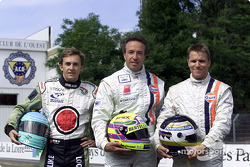 Johansson Motorsports drivers Patrick Lemarie, Tom Coronel and Stefan Johansson