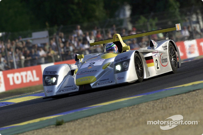Audi driver Christian Pescatori (#2) in first qualifying on Wednesday