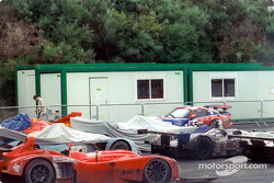 The carnage of the night in the parc ferme