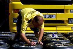 Tire preparation at Jordan
