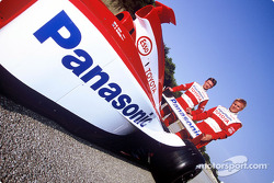 Allan McNish and Mika Salo
