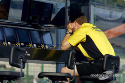 Jordan engineer at pit wall