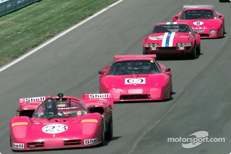 Ferraris in a row