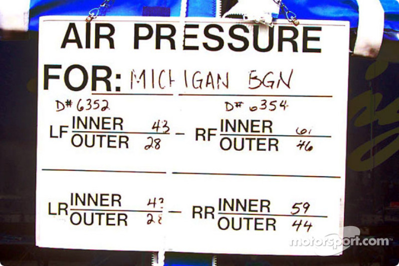 Air pressure sign at Good Year