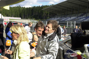 Bernd Schneider and Norbert Haug celebrating