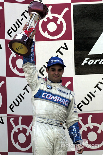Juan Pablo Montoya on the podium