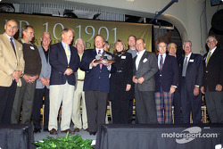 Race car greats George Follmer, Bob Glidden, Ned Jarret, Dan Gurney, Junior Johnson, Don Nicholson, Lyn St. James, Tom Kendall, Parnelli Jones, Sir Jackie Stewart, Carroll Shelby, Glen Wood and Leonard Wood