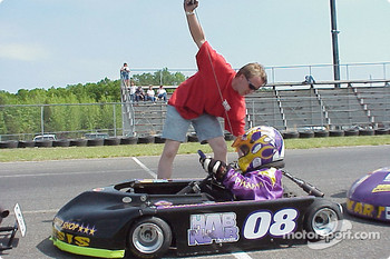 Robinson Speed Shop engine builder Chris Mason cranks up Junior sportsman-1 Heavy driver Awesome Austin Hubbard
