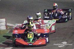 Felipe Giaffone, Pedro Araujo and Rubens Barrichello
