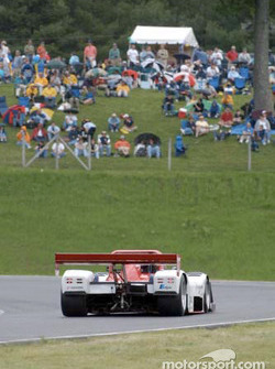 Fans at Lime Rock Park watch the Doran Lista Racing Judd Ferrari