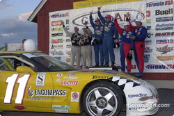 Powell Motorsports' Devon Powell and Doug Goad join TF Racing and Motorsport Technologies on the overall podium at the Virginia Festival of Speed