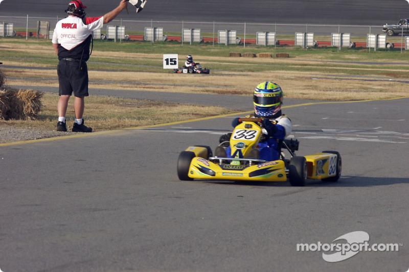 #89-Casey Roderick takes Briggs Junior Sportsman-1ís checkered flag