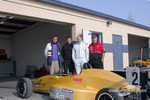 Arden Weatherford of Fran-Am, Telo Stewart of World Speed, Michael McDowell MMI driver and Bill Mayer MMI team owner
