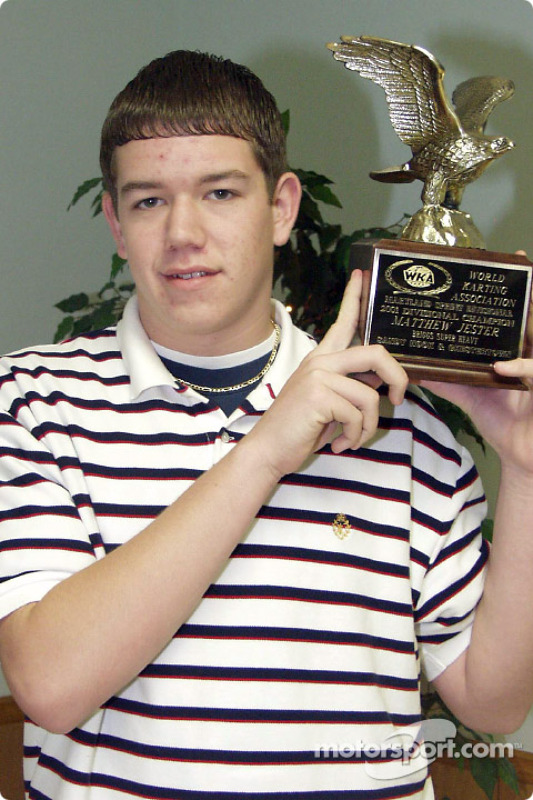 Matt Jester poses with his WKA Eagle Trophy