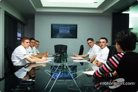 Renault young driver development training, Enstone, England