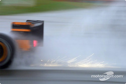 Sparks in the rain