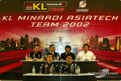 Press conference with Alex Yoong, Mark Webber and Paul Stoddart