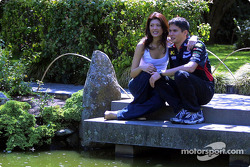 Visit at the Melbourne Zoo: Alex Yoong with girlfriend Arianna Teoh
