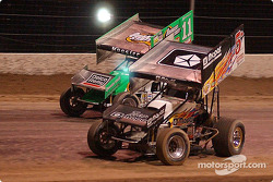 WOO: The racing Kinsers battled it out in the qualifying dash for the Silver State Shootout; #5 Mark Kinser won the qualifying dash and led every lap of the World of Outlaws feature while  #11 Steve Kinser finished second in the dash and third in the feature