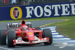 Michael Schumacher on his way to the victory